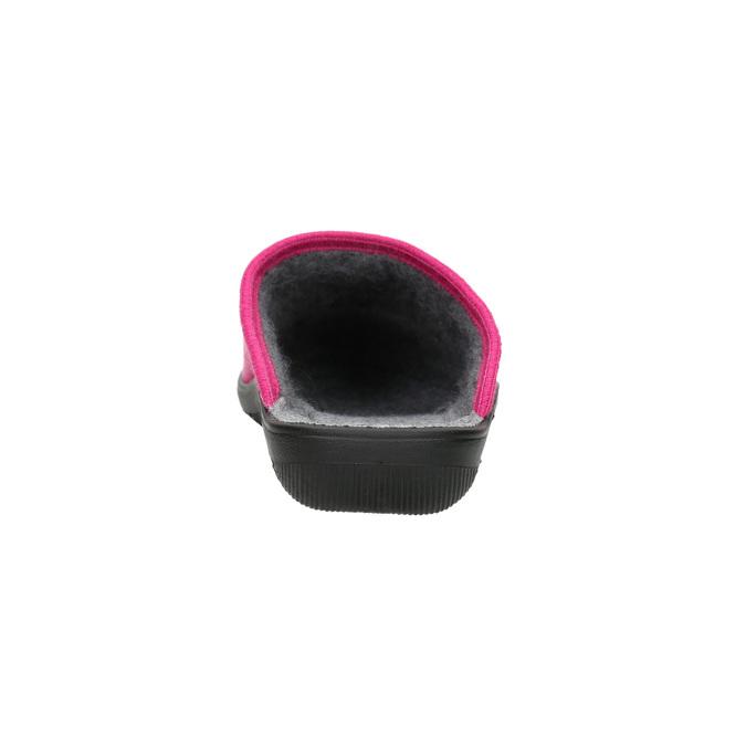 Ladies' Pink Slippers bata, red , 579-5621 - 17