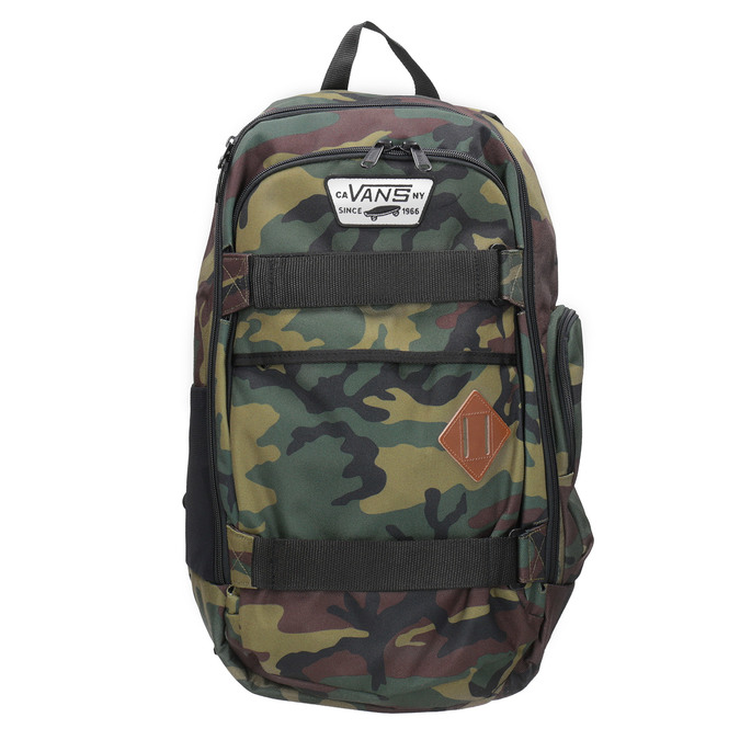 Unisex Backpack with Camouflage Print vans, brown , 969-3099 - 26