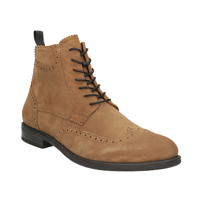 Men's Leather Ankle Boots vagabond, brown , 823-3016 - 13