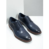 Casual leather shoes blue bata, blue , 826-9681 - 18