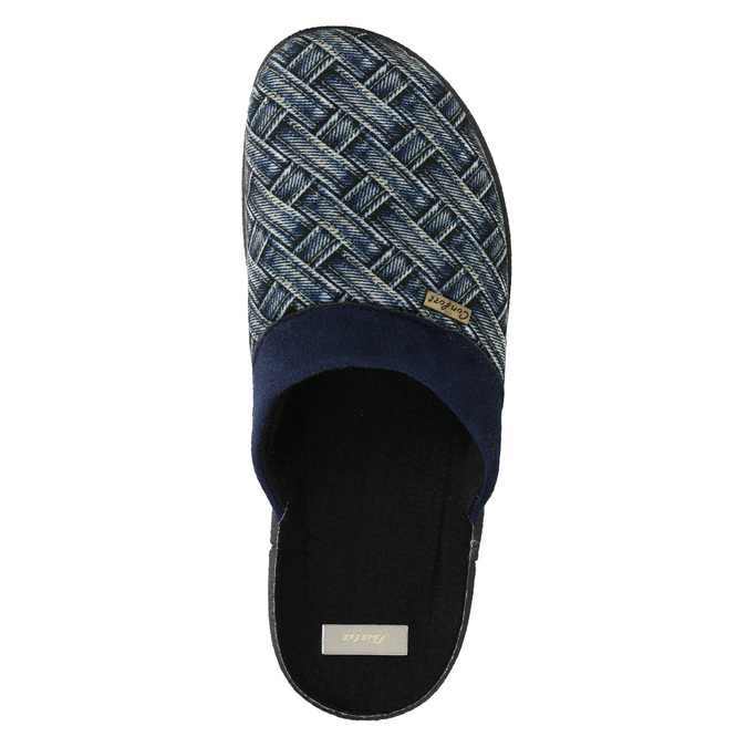 Men's Slippers bata, blue , 879-9611 - 26