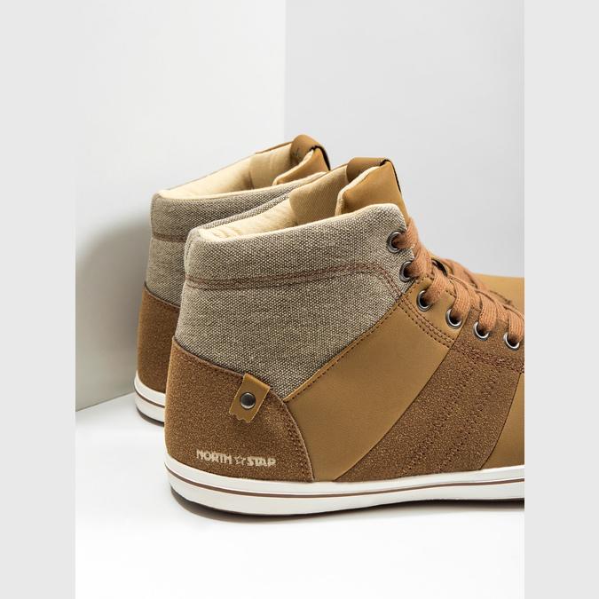 Men's high-top sneakers north-star, brown , 841-3608 - 14
