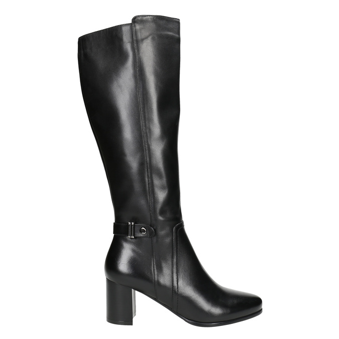 High Boots with a Sturdy Heel bata, black , 694-6638 - 15