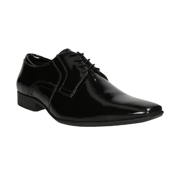 Men's patent leather shoes bata, black , 821-6601 - 13