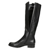Ladies' leather high boots with low heel gabor, black , 694-6007 - 26
