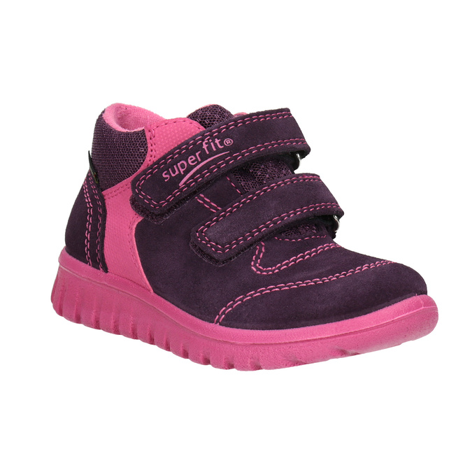 Children's leather ankle boots, violet , 123-5036 - 13