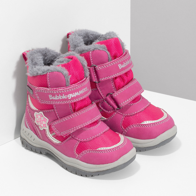 Pink Children's Snow Boots bubblegummer, pink , 199-5602 - 26
