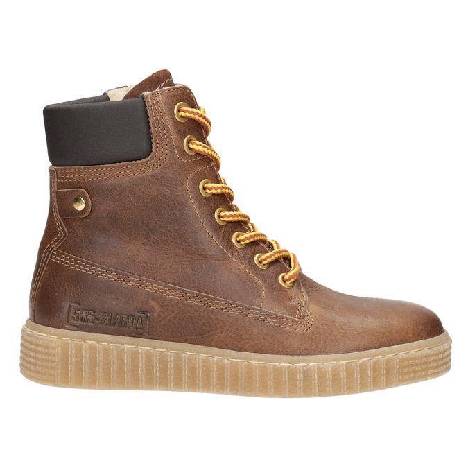 Children's Brown Winter Boots mini-b, brown , 496-4620 - 26