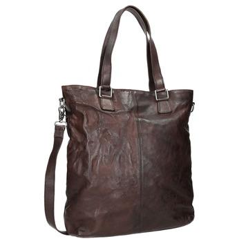 Brown Leather Handbag bata, brown , 964-4245 - 13