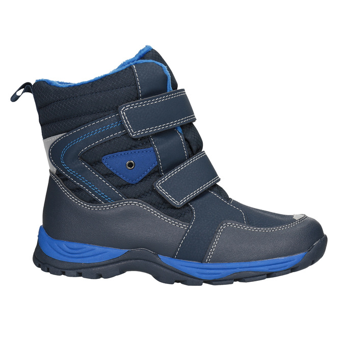 Children's winter boots with Velcro mini-b, blue , 491-9653 - 26