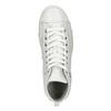 White ankle sneakers diesel, white , 501-6743 - 17