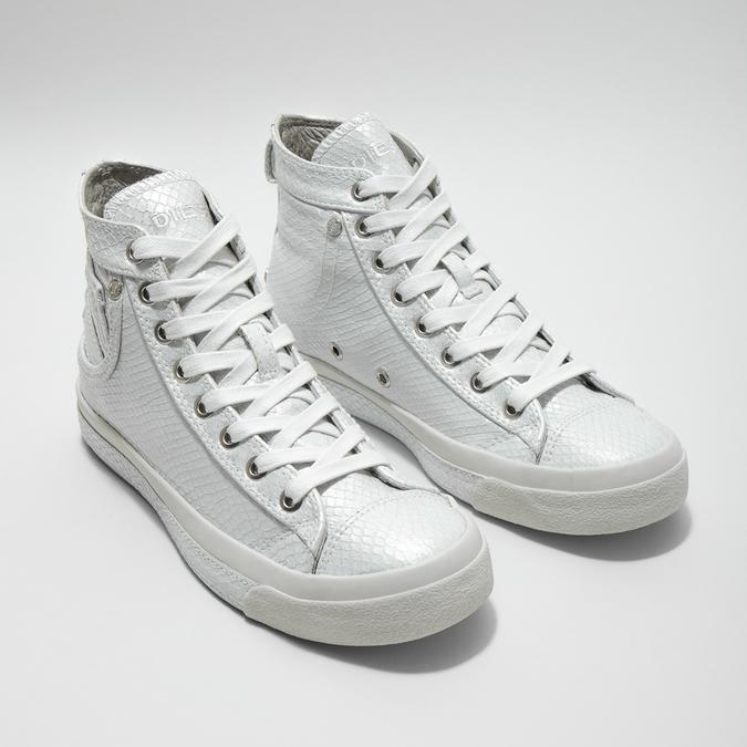 White ankle sneakers diesel, white , 501-6743 - 26