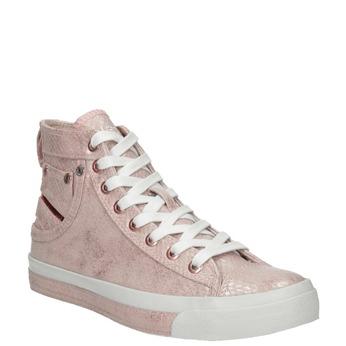 Ladies' pink ankle sneakers diesel, red , 501-5743 - 13
