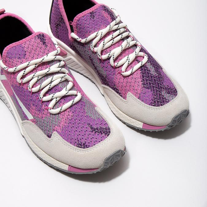 Pink sporty sneakers diesel, pink , 509-5760 - 14