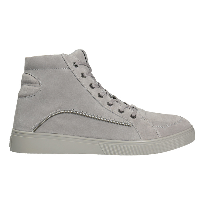 Men's leather ankle boots diesel, gray , 803-2629 - 26