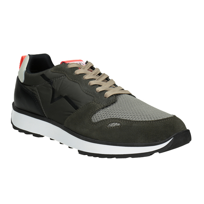 Men's sneakers with distinctive sole diesel, green, 809-7638 - 13