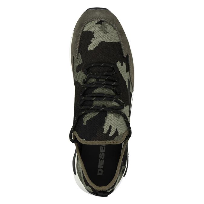 Men's patterned sneakers diesel, green, 809-7602 - 15