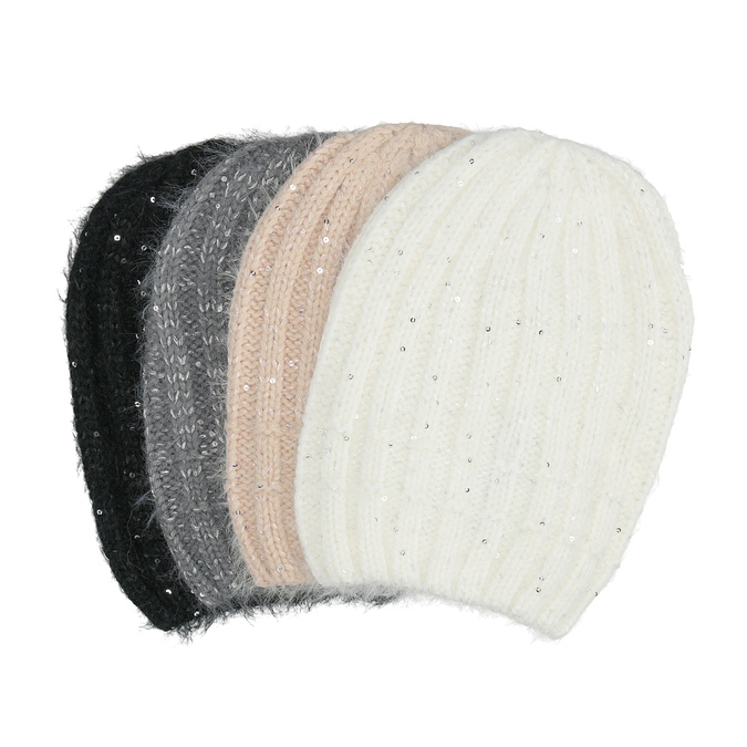 Hat with Sequins bata, 909-0686 - 13