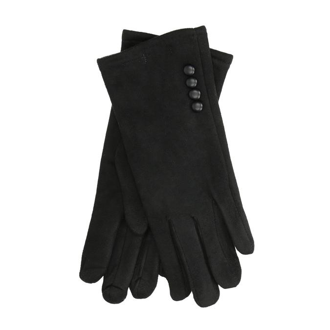 Ladies' textile gloves, black , 909-6612 - 13