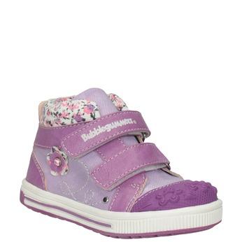 Kids' hi-top sneakers with a pattern bubblegummer, violet , 121-9618 - 13