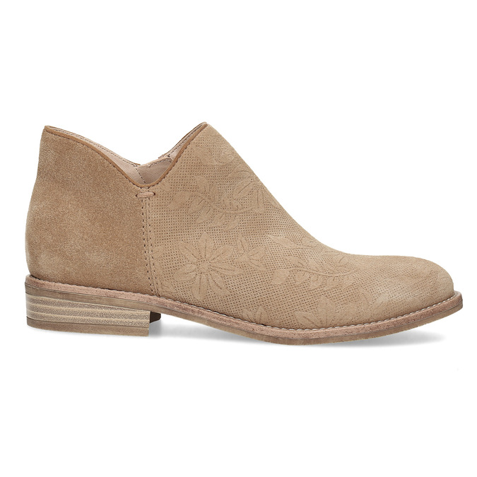 Leather ankle boots bata, brown , 596-3685 - 19