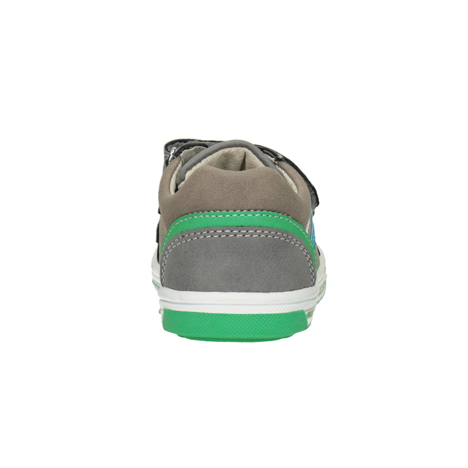 Girls' sneakers with Velcro bubblegummer, gray , 111-2625 - 16