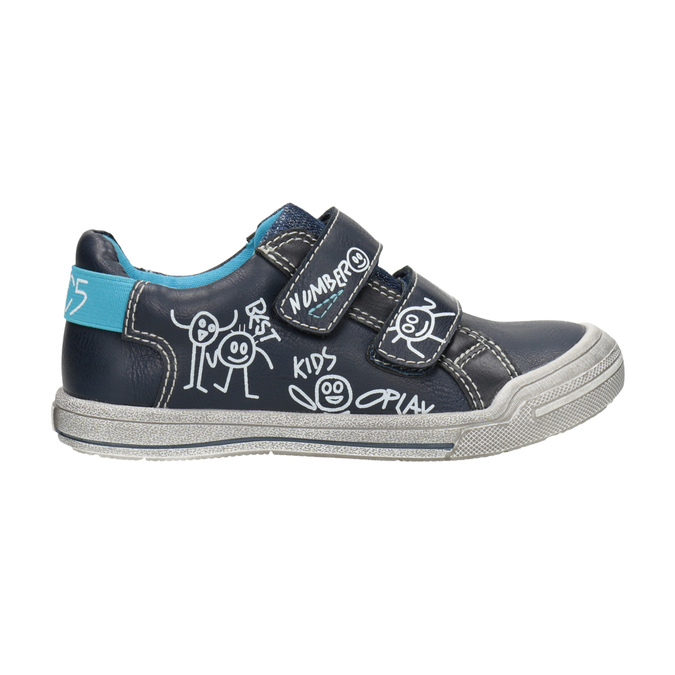 Kids' casual sneakers mini-b, blue , 211-9217 - 26