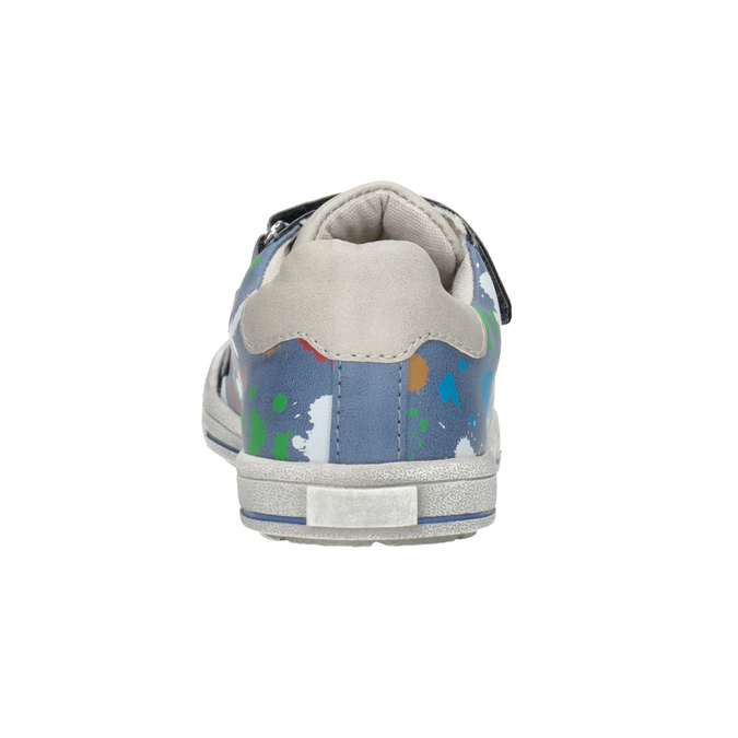 Blue sneakers with print mini-b, 211-9218 - 16