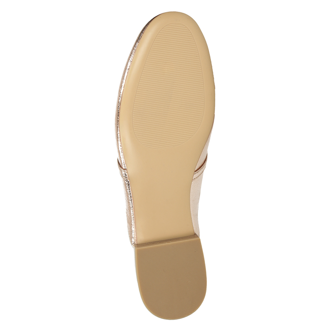 Ladies' slippers with a buckle bata, gold , 511-8609 - 17