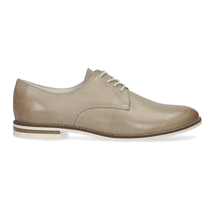 Ladies' leather shoes bata, beige , 526-8650 - 19