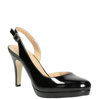 Stiletto pumps insolia, black , 721-6616 - 13