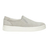 Leather Slip-on shoes with perforations. bata, gray , 533-2600 - 26