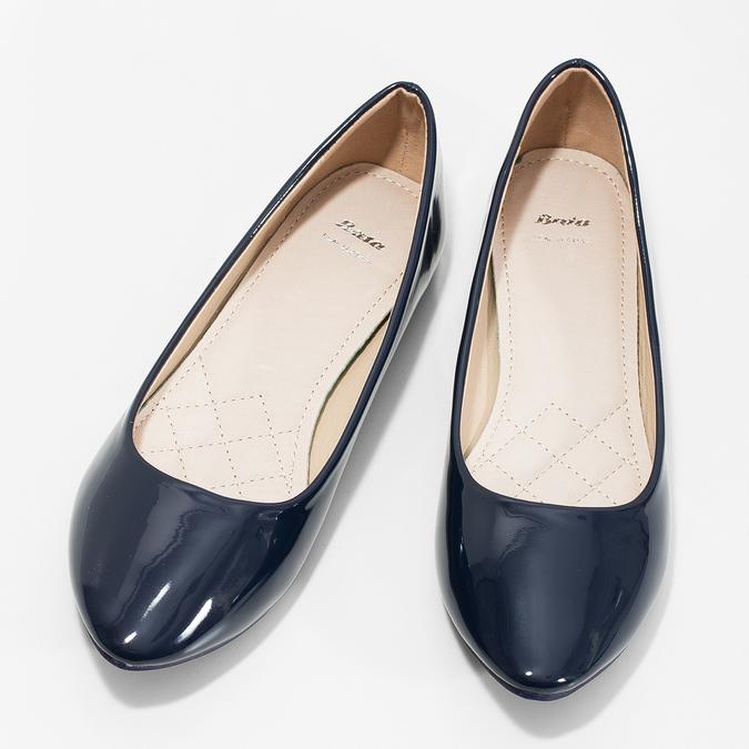 Ladies' patent leather ballerinas bata, 521-2602 - 16
