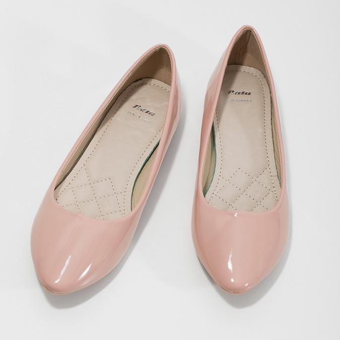 Ladies' patent-leather ballerinas bata, pink , 521-5602 - 16