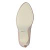 Pinkish cream-colored leather pumps insolia, beige , 724-2104 - 17