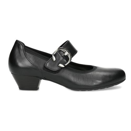 Leather Mary Jane Flats gabor, black , 514-6118 - 19