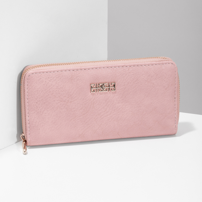Pink ladies' wallet bata, pink , multicolor, 941-0180 - 17