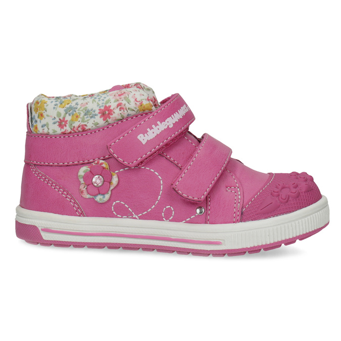 Pink leather ankle boots with Velcro bubblegummers, 121-5618 - 19