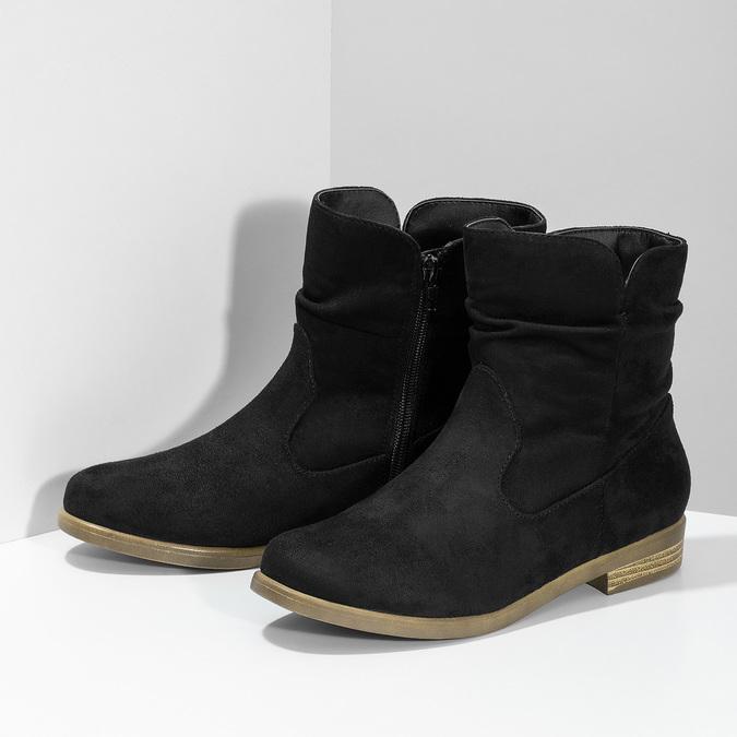 Ladies' ankle boots bata, black , 599-6614 - 16